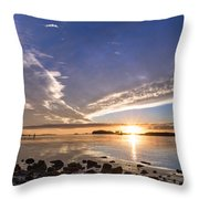 Point Of The Sunset Throw Pillow