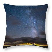 Point Pelee Milky Way Throw Pillow