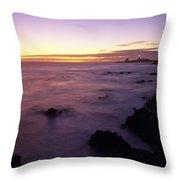 Point Piedras Blancas Lighthouse Throw Pillow
