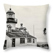 Point Pinos Lighthouse By Diana Sainz Throw Pillow