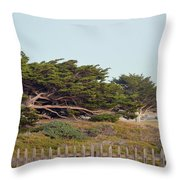 Point Pinos Lighthouse Pacific Grove California Throw Pillow