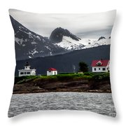 Point Retreat Throw Pillow by Robert Bales