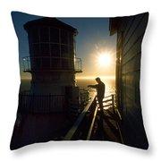 Point Reyes Lighthouse Throw Pillow