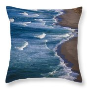 Point Reyes Long Beach Throw Pillow by Garry Gay