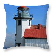 Point Robinson Light House Throw Pillow