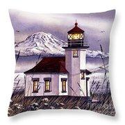 Point Robinson Lighthouse Throw Pillow