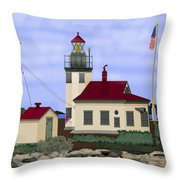 Point Robinson With Shoreline Detail 2013 Throw Pillow