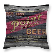 Point Special Beer Throw Pillow