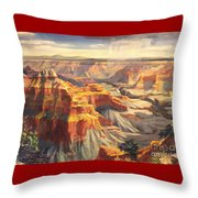 Point Sublime - Grand Canyon Az. Throw Pillow