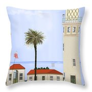 Point Vicente Lighthouse Throw Pillow by Anne Norskog