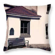 Point Wilson Lighthouse Bench Throw Pillow