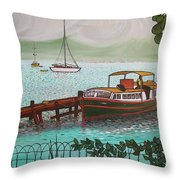 Pointe-a-pitre Martinique Across From Fort Du France Throw Pillow