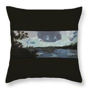 Pointe Aux Chein Blue Skies Throw Pillow