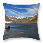 Pointe Rousse Lake - Vertical Composition Throw Pillow