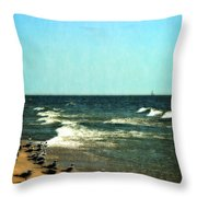 Pointed Into The Wind Throw Pillow