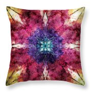 Pointed Star Flower Watercolor Throw Pillow