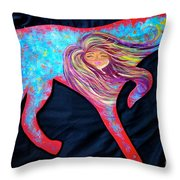 Pointer Cut Out With Wind Blowing Throw Pillow