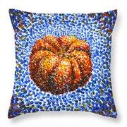 Pointillism Pumpkin Throw Pillow
