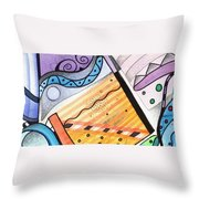 Points Lines And Circles Throw Pillow