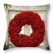 Pointsetter Christmas Reef Throw Pillow