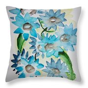 Pointy Petals Throw Pillow
