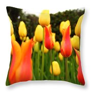 Pointy Tulips Throw Pillow