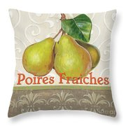Poires Fraiches Throw Pillow by Debbie DeWitt