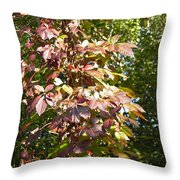 Poisin Oak Throw Pillow