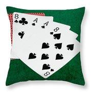 Poker Hands - Dead Man's Hand 2 V.2 Throw Pillow