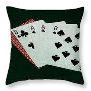 Poker Hands - Dead Man's Hand Throw Pillow