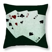 Poker Hands - High Card 4 Throw Pillow