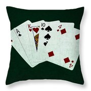Poker Hands - One Pair 1 Throw Pillow