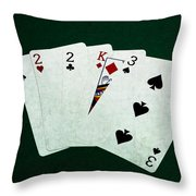 Poker Hands - Three Of A Kind 1 Throw Pillow
