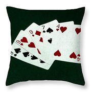 Poker Hands - Three Of A Kind 2 Throw Pillow