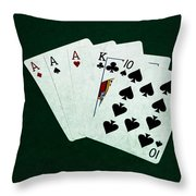 Poker Hands - Three Of A Kind 4 Throw Pillow