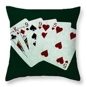 Poker Hands - Two Pair 1 Throw Pillow