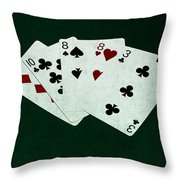 Poker Hands - Two Pair 4 Throw Pillow