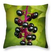 Pokeweed Throw Pillow