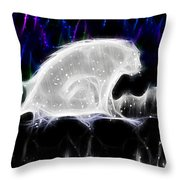 Polar And Snow Throw Pillow