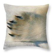 Polar Bear Paw Throw Pillow