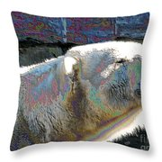 Polar Bear With Enameled Effect Throw Pillow