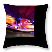 Polaroid Fire Throw Pillow
