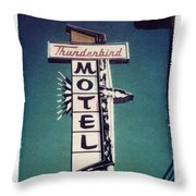 Polaroid Transfer Motel Throw Pillow by Jane Linders