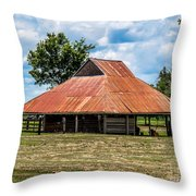 Pole Barn Throw Pillow