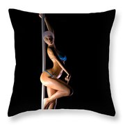Pole Dancer... Throw Pillow
