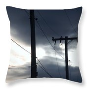 Poles And Sunsets Throw Pillow