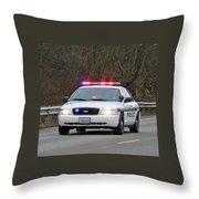 Police Escort Throw Pillow