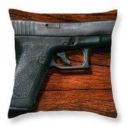 Police - Gun - The Modern Gun  Throw Pillow