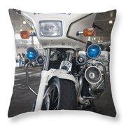 Police Honda Throw Pillow