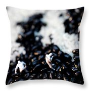 Police Investigating Question Mark On Bean Field Throw Pillow by Paul Ge